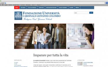 Restyle del sito internet della Fondazione Cardinal Giovanni Colombo